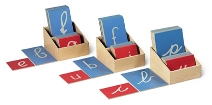introduction to montessori equipment movable alphabet to golden beads